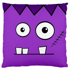 Halloween Frankenstein   Purple Standard Flano Cushion Case (one Side) by Valentinaart
