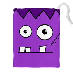 Halloween Frankenstein   Purple Drawstring Pouches (xxl) by Valentinaart