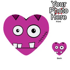 Halloween Frankenstein   Pink Multi Purpose Cards (heart)