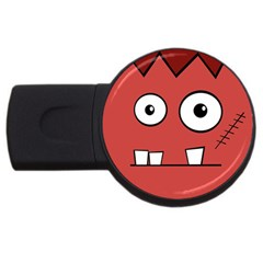 Halloween Frankenstein   Red Usb Flash Drive Round (2 Gb)  by Valentinaart