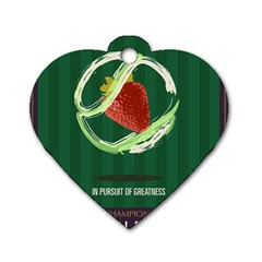 Wimbledon 2016  Dog Tag Heart (two Sides)