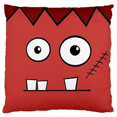 Halloween Frankenstein   Red Large Flano Cushion Case (one Side) by Valentinaart