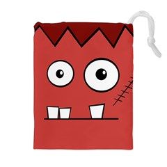Halloween Frankenstein   Red Drawstring Pouches (extra Large)
