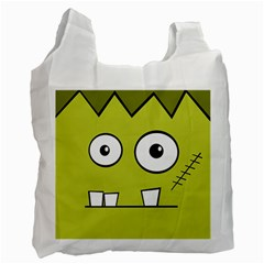 Halloween Frankenstein  Yellow Recycle Bag (one Side) by Valentinaart