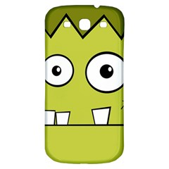 Halloween Frankenstein  Yellow Samsung Galaxy S3 S Iii Classic Hardshell Back Case