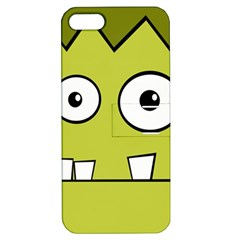 Halloween Frankenstein  Yellow Apple Iphone 5 Hardshell Case With Stand by Valentinaart
