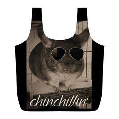 Maggie Chinchillin Full Print Recycle Bags (l)  by tigflea