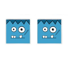 Halloween Frankenstein   Blue Cufflinks (square) by Valentinaart