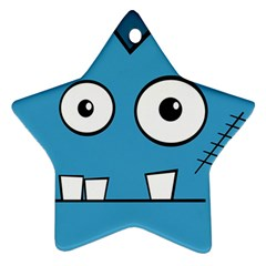 Halloween Frankenstein   Blue Star Ornament (two Sides)  by Valentinaart
