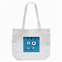 Halloween Frankenstein   Blue Tote Bag (white) by Valentinaart