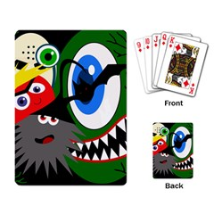 Halloween Monsters Playing Card by Valentinaart
