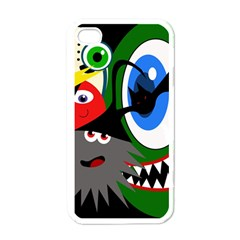 Halloween Monsters Apple Iphone 4 Case (white) by Valentinaart