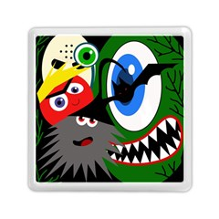 Halloween Monsters Memory Card Reader (square)  by Valentinaart