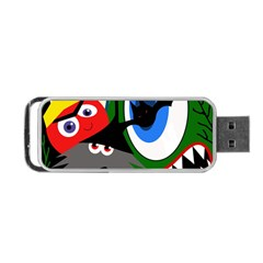 Halloween Monsters Portable Usb Flash (two Sides) by Valentinaart