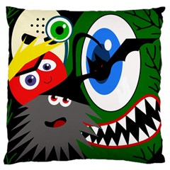 Halloween Monsters Large Flano Cushion Case (two Sides) by Valentinaart
