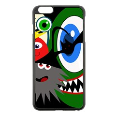Halloween Monsters Apple Iphone 6 Plus/6s Plus Black Enamel Case by Valentinaart