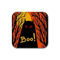 Halloween Monster Rubber Square Coaster (4 Pack)  by Valentinaart