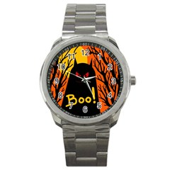 Halloween Monster Sport Metal Watch by Valentinaart