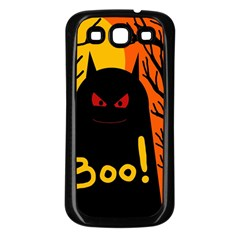Halloween Monster Samsung Galaxy S3 Back Case (black) by Valentinaart