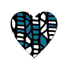 Blue Decor Heart Magnet