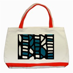 Blue Decor Classic Tote Bag (red)