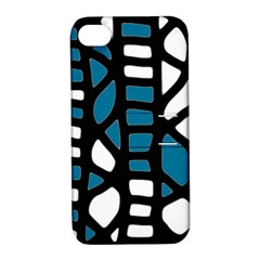 Blue Decor Apple Iphone 4/4s Hardshell Case With Stand by Valentinaart