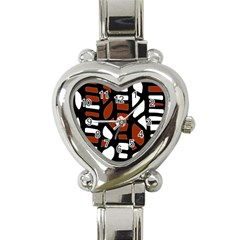 Red Decor Heart Italian Charm Watch by Valentinaart