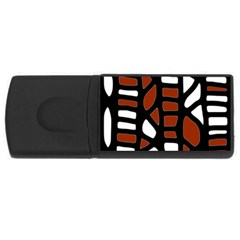 Red Decor Usb Flash Drive Rectangular (4 Gb)  by Valentinaart