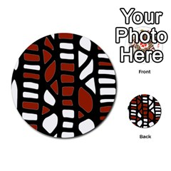 Red Decor Multi Purpose Cards (round)