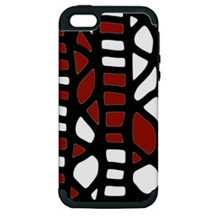 Red Decor Apple Iphone 5 Hardshell Case (pc+silicone)