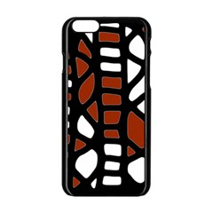 Red Decor Apple Iphone 6/6s Black Enamel Case