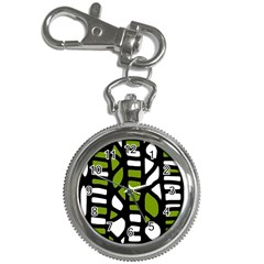 Green Decor Key Chain Watches by Valentinaart