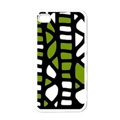 Green Decor Apple Iphone 4 Case (white) by Valentinaart