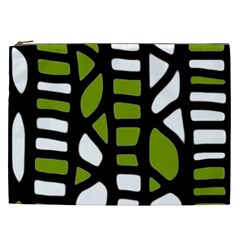 Green Decor Cosmetic Bag (xxl)  by Valentinaart