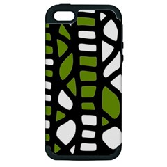 Green Decor Apple Iphone 5 Hardshell Case (pc+silicone) by Valentinaart