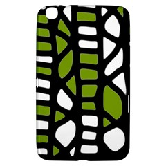 Green Decor Samsung Galaxy Tab 3 (8 ) T3100 Hardshell Case