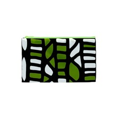 Green Decor Cosmetic Bag (xs) by Valentinaart