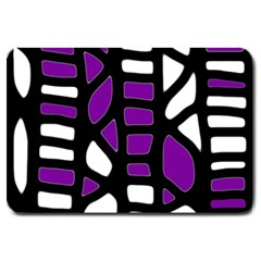 Purple Decor Large Doormat  by Valentinaart