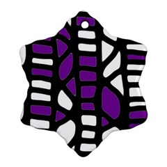 Purple Decor Snowflake Ornament (2 Side) by Valentinaart