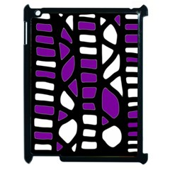 Purple Decor Apple Ipad 2 Case (black)