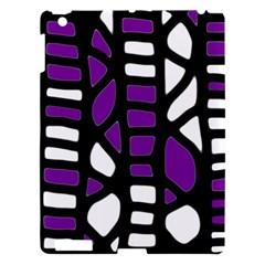 Purple Decor Apple Ipad 3/4 Hardshell Case by Valentinaart