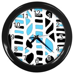 Light Blue Decor Wall Clocks (black) by Valentinaart