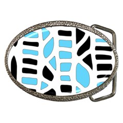 Light Blue Decor Belt Buckles by Valentinaart