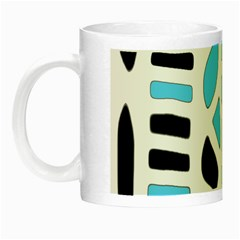 Light Blue Decor Night Luminous Mugs by Valentinaart