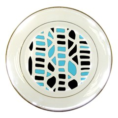 Light Blue Decor Porcelain Plates
