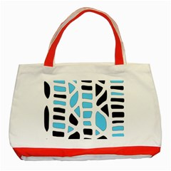 Light Blue Decor Classic Tote Bag (red)