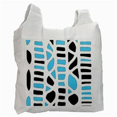Light Blue Decor Recycle Bag (one Side)