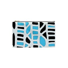 Light Blue Decor Cosmetic Bag (small)