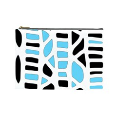 Light Blue Decor Cosmetic Bag (large)