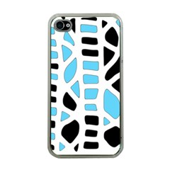 Light Blue Decor Apple Iphone 4 Case (clear) by Valentinaart